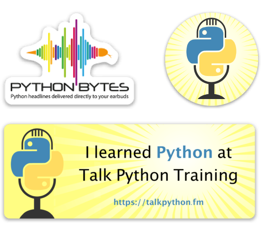 Talk Python To Me Stickers
